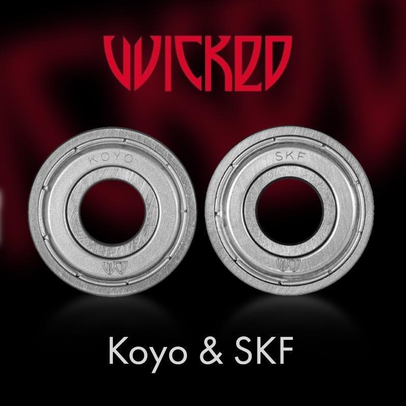 Nowe łożyska do rolek Wicked - Koyo oraz SKF - co to jest?