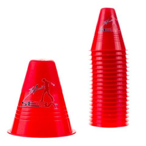 Kubeczki do Slalomu - Seba Slalom Cones Dual Density - Czerwone (20 szt.) - Zdjęcie 1