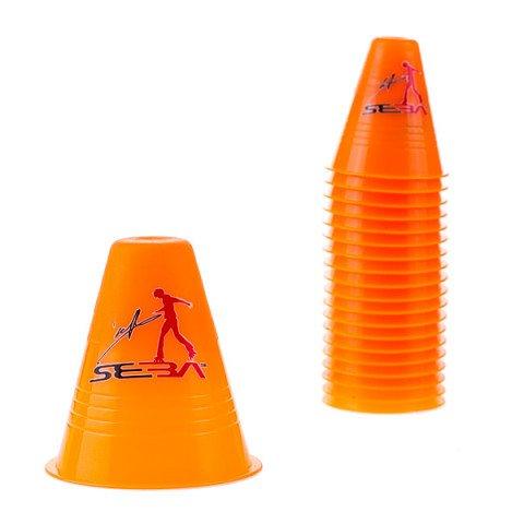 Kubeczki do Slalomu - Seba Slalom Cones Dual Density - Pomarańczowe (20 szt.) - Zdjęcie 1