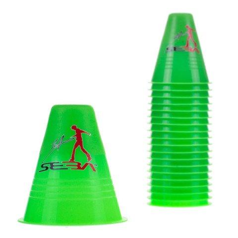Kubeczki do Slalomu - Seba Slalom Cones Dual Density - Zielone (20 szt.) - Zdjęcie 1