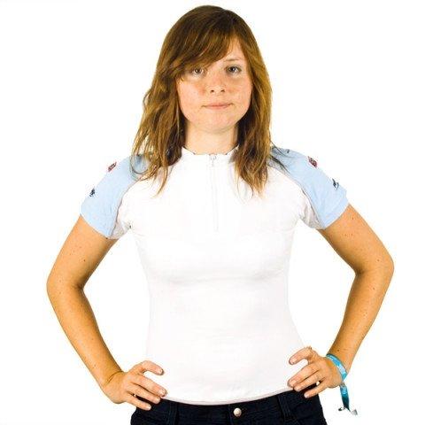 Koszulki - Koszulka Powerslide Zip T-Shirt Pure - Biało/Niebieski - Zdjęcie 1