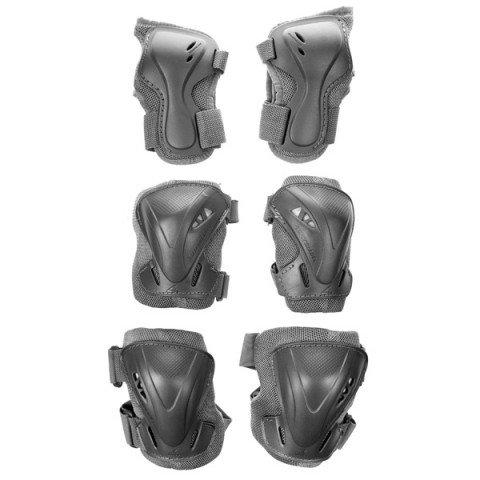 Ochraniacze - Ochraniacze Rollerblade Pro N Activa Tri-Pack - Srebrne - Zdjęcie 1