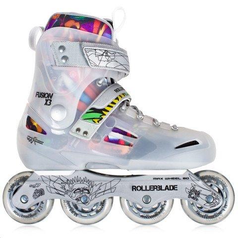 Rolki - Rolki Rollerblade Fusion X3 10 - Srebrno/Przezroczyste - Zdjęcie 1