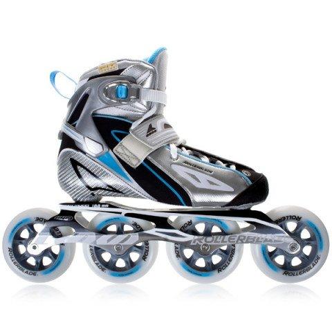 Rolki - Rolki Rollerblade Speedmachine RX100 W 10 - Srebrno/Jasno niebieskie - Zdjęcie 1
