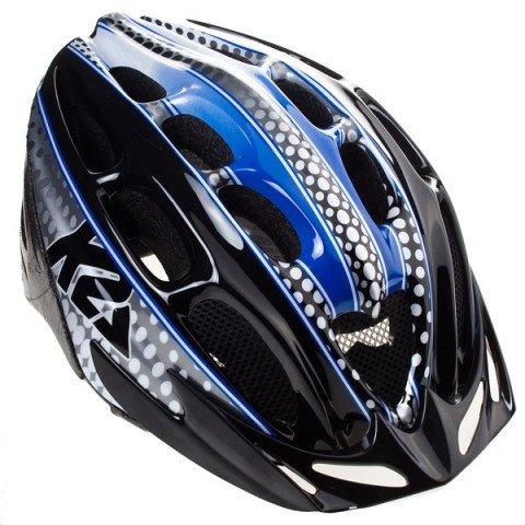 Kaski - Kask K2 Moto 10 - Czarno/Niebiesko/Biały - Zdjęcie 1