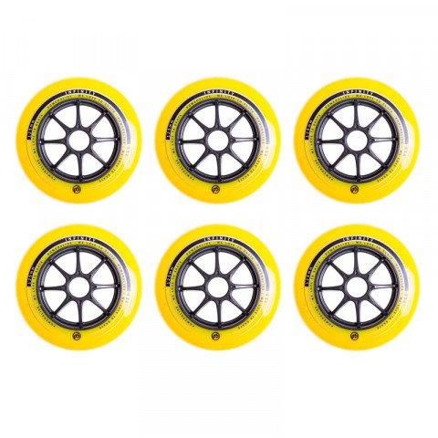 Kółka - Kółka do Rolek Powerslide Infinity 125mm/83a - Żółto/Czarne (6 szt.) - Zdjęcie 1