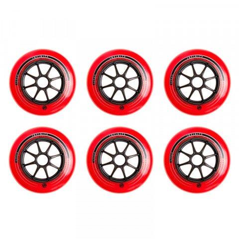 Kółka - Kółka do Rolek Powerslide Infinity 125mm/83a - Czerwono/Czarne (6 szt.) - Zdjęcie 1