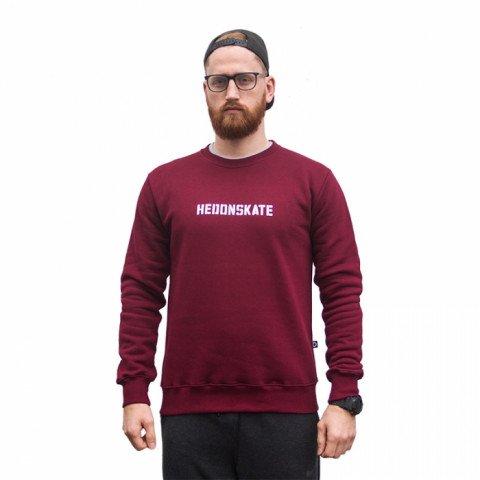 Bluzy - Bluza Hedonskate Classic Sweater 2019 - Bordowa - Zdjęcie 1