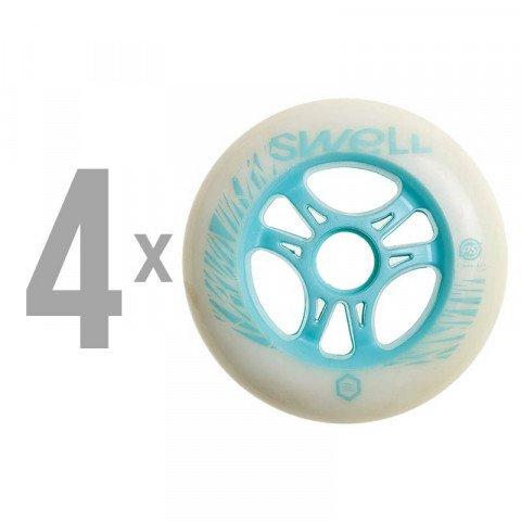 Kółka - Kółka do Rolek Powerslide Swell 110mm/85a SHR - Aqua (4 szt.) - Zdjęcie 1