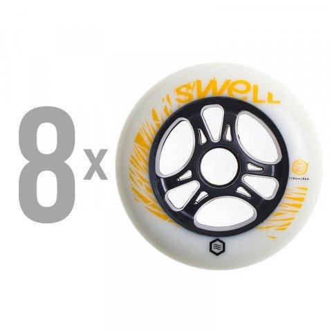 Kółka - Kółka do Rolek Powerslide Swell 110mm/85a SHR - Atomic Tangerine (8 szt.) - Zdjęcie 1