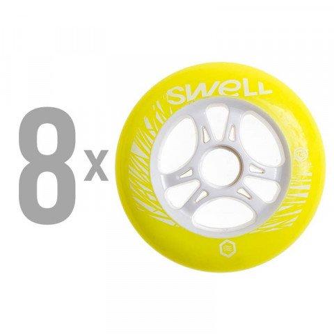 Kółka - Kółka do Rolek Powerslide Swell 110mm/85a SHR - Yellow Flash (8 szt.) - Zdjęcie 1
